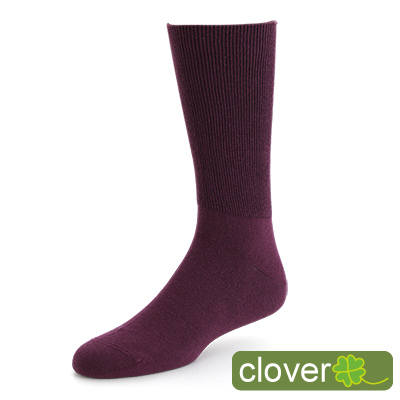 Clover 專利健康萊卡寬口除臭紳士襪(紫)
