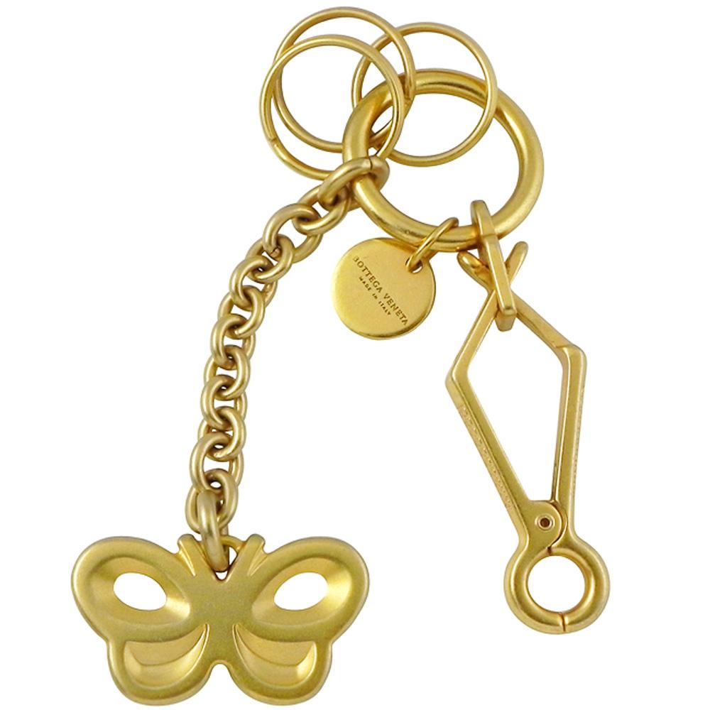 BOTTEGA VENETA 蝴蝶鑰匙圈吊飾(金色)