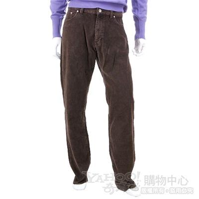 BOSS 咖啡色絨質休閒長褲