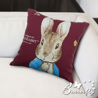 Butterfly-彼得兔-立兔抱枕-紅