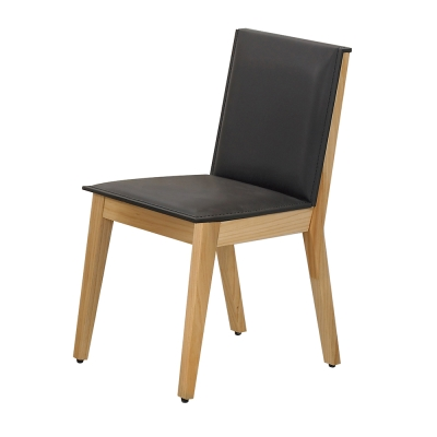 AT HOME-威靈頓原木色咖啡馬鞍皮餐椅