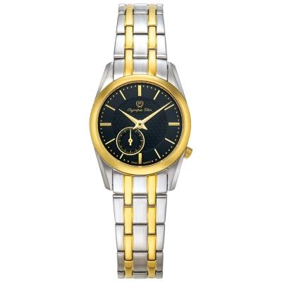 Olympia Star奧林比亞之星 經典都會系列小秒針時尚腕錶-黑/26mm