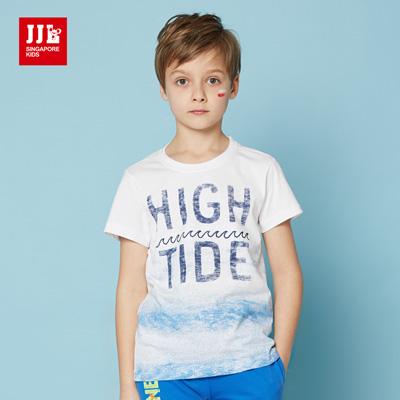 JJLKIDS 夏威夷海灘渡假風T恤(本白)
