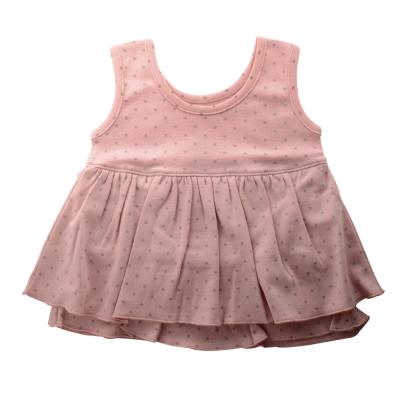 Anna Nicola-日本製- 水玉點點雙層小洋裝(粉紅)