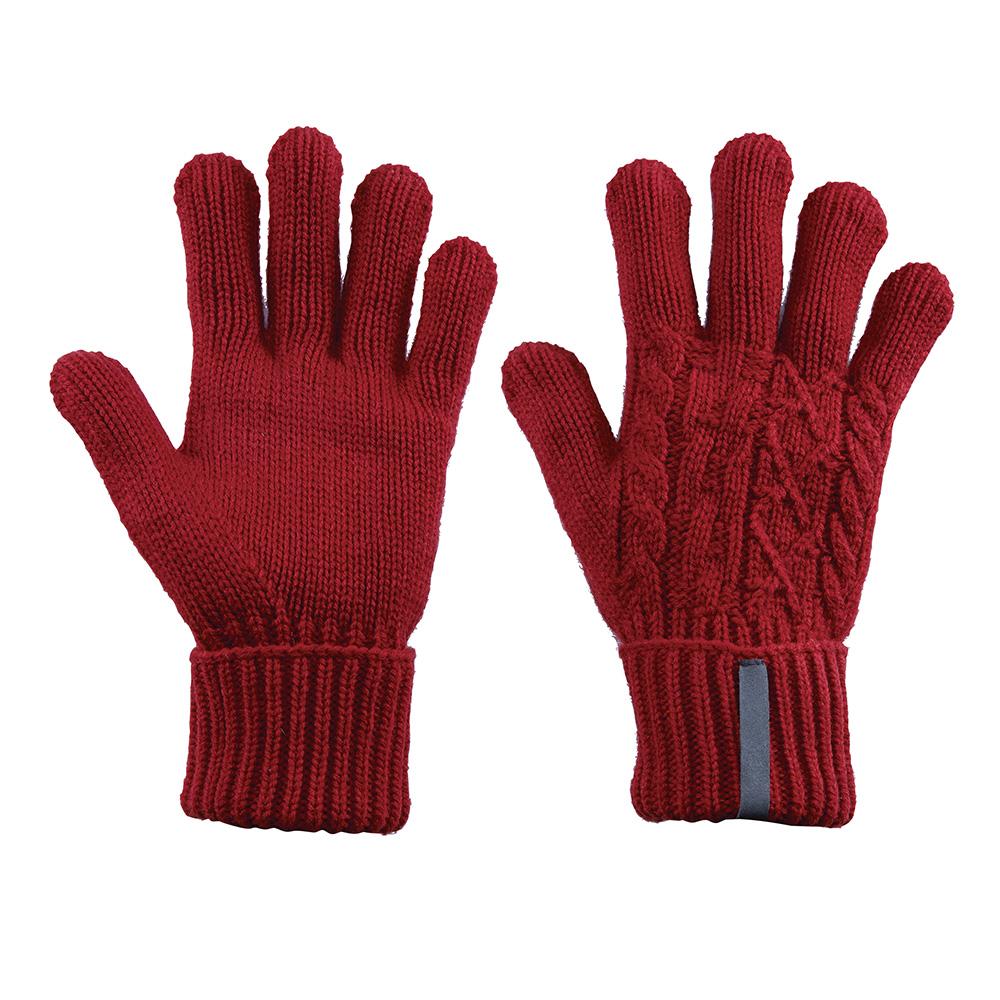 【ATUNAS 歐都納】女款保暖手套 A-A1402W 暗紅