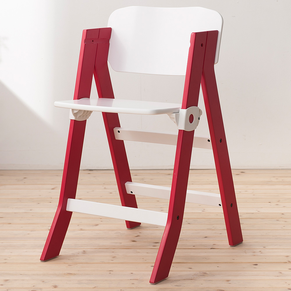 奇哥 兒童成長椅-紅白色