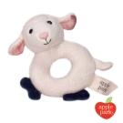 美國 Apple Park 有機棉手搖鈴啃咬玩具 - 小羊