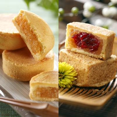 聖保羅烘焙廚房 鳳梨酥10入+蔓越莓酥8入(共2盒)