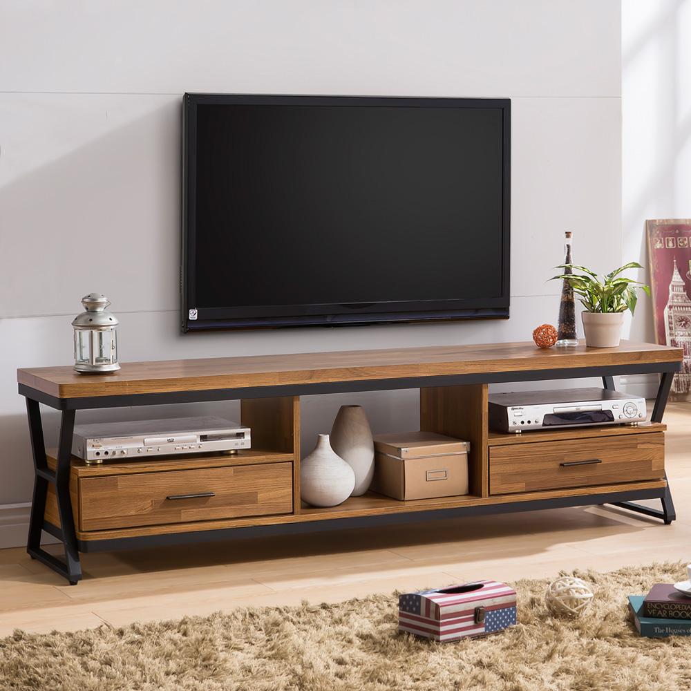 Homelike 德爾工業風6尺電視櫃-180x40x51cm
