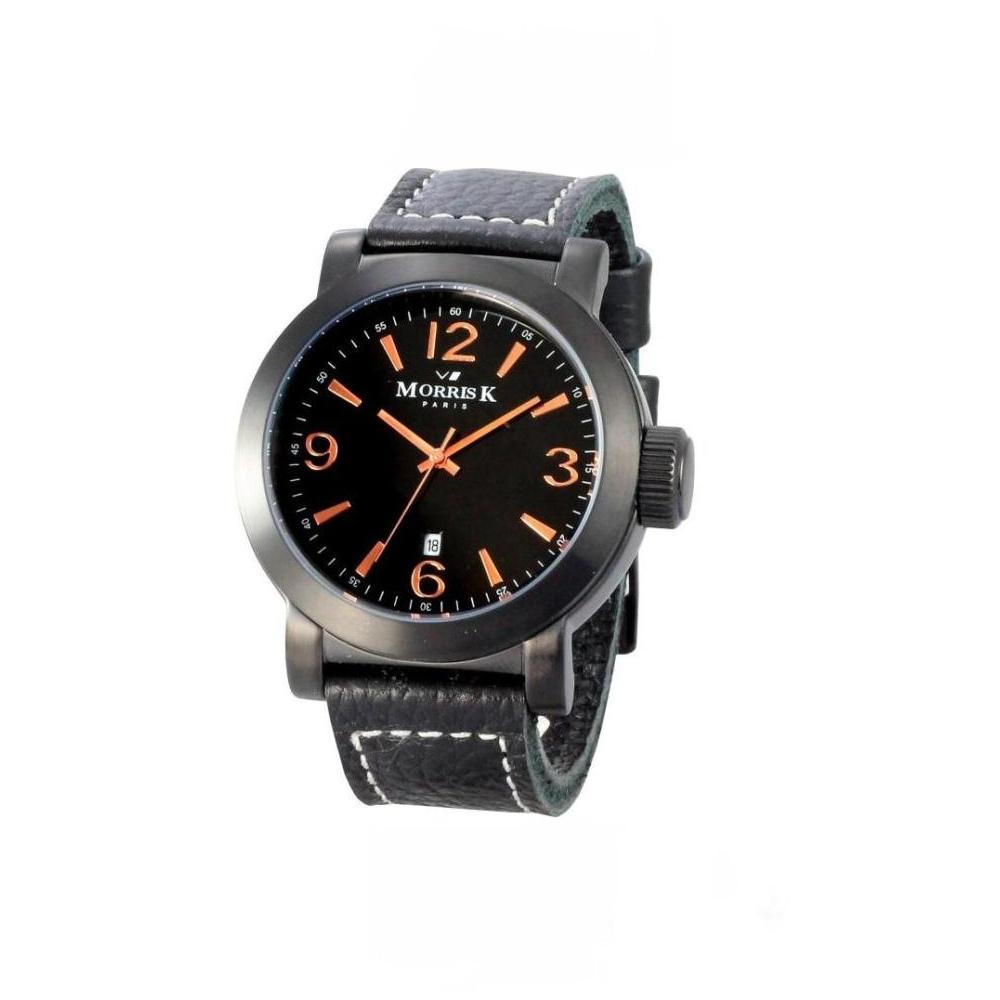 MORRIS K 風雲變色個性時尚腕錶-IP黑x玫瑰金/43mm