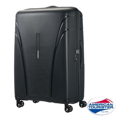 AT美國旅行者 31吋Skytracer飛機輪硬殼嵌合式TSA行李箱(暗灰黑)