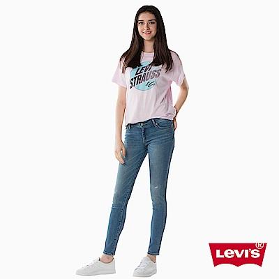 牛仔褲 修身 711 中腰緊身窄管 彈性布料 - Levis