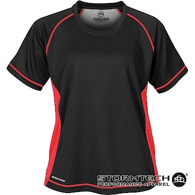 【加拿大STORMTECH】H2X排汗透氣耐久TEE-SAT035女-黑紅