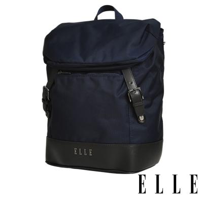 ELLE 時光旅人系列-大容量IPAD/13吋筆電休閒後背包-午夜藍