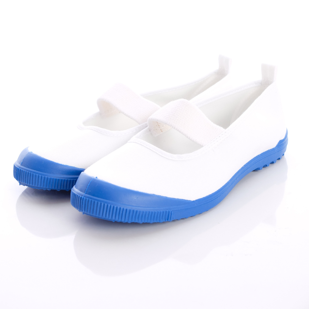 日本Carrot 機能童鞋-日本製室內鞋M015藍白(中小童段)