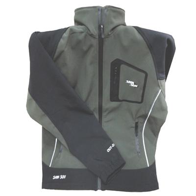 【聖手牌】綠色系立領附帽運動休閒車衣外套