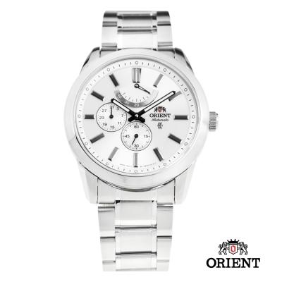 ORIENT 東方錶 POWER RESERVE系列 藍寶石機械錶-白色/42mm