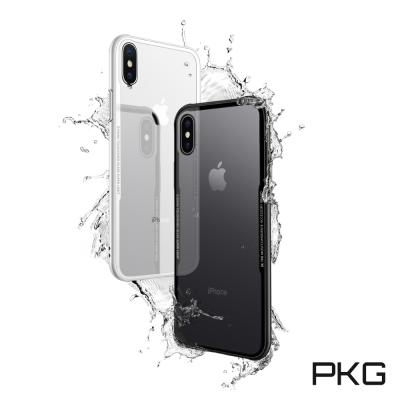 PKG Apple IPhone X 高優質強化透背防護殼套-高顏值-頂規防護殼