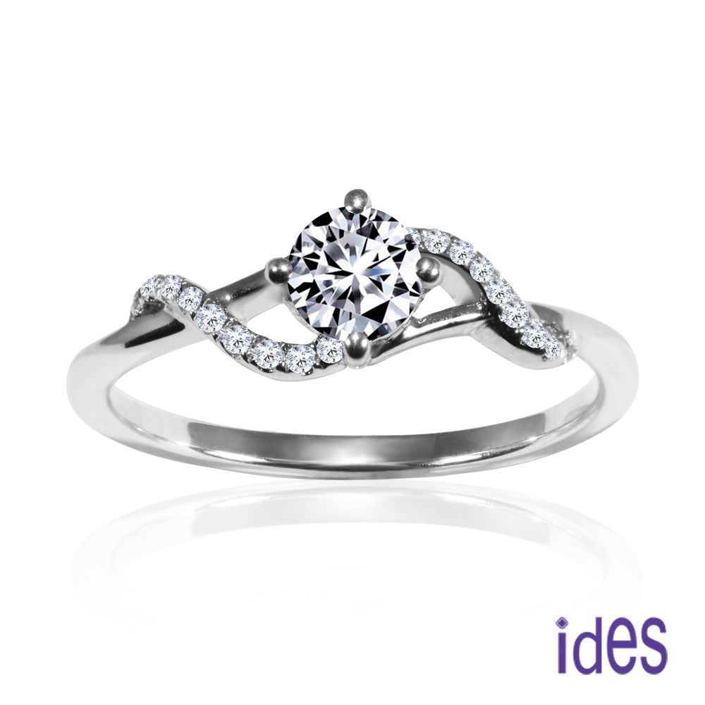 ides愛蒂思 摯愛系列30分E/VS1八心八箭完美車工鑽石戒指婚戒/浪漫