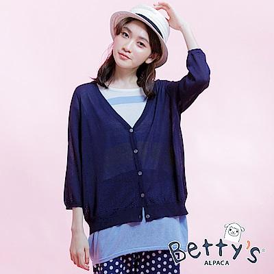 betty's貝蒂思 輕薄透氣襯衫(深藍)