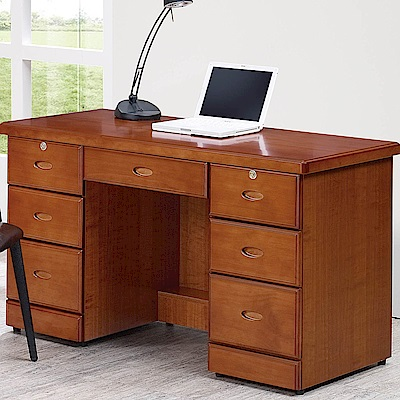 H&D 樟木色4.2尺書桌 (寬127X深57.5X高77.5cm)