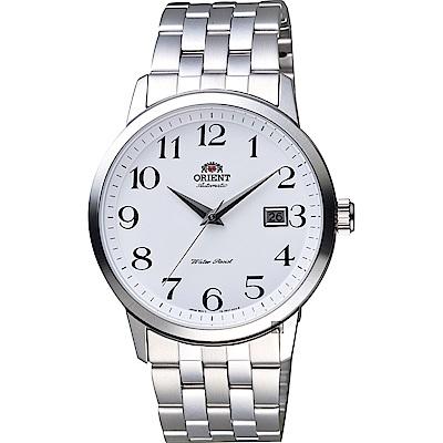 ORIENT東方 飛行者玩家機械錶-白x銀/41mm