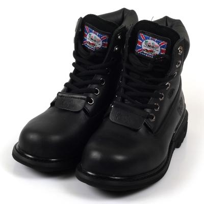 Kai Shin 皮革安全鞋 黑色