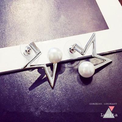 LuciTA 空運春夏新款 幸運星設計款耳環_共雙色