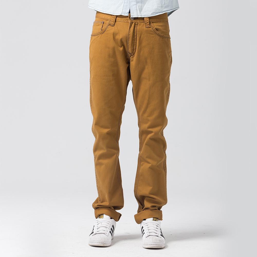 Earl Jean 低腰合身窄管卡其褲-深卡其-男