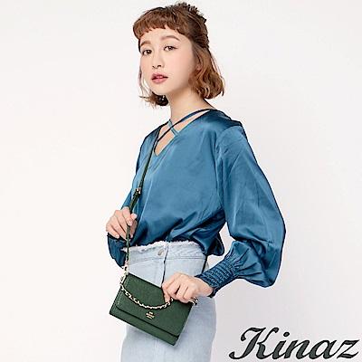 KINAZ 微奢午茶鏈帶多用斜背包-優雅墨綠-城市輕旅系列