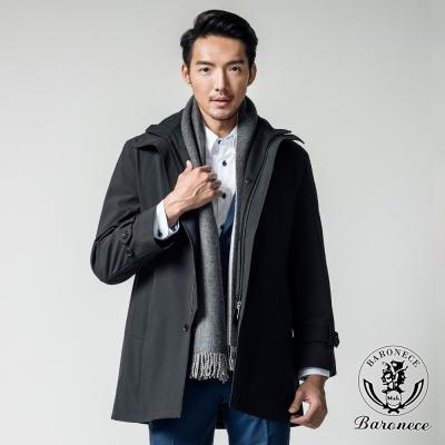 BARONECE 時尚簡約防潑水風衣外套_黑色(400672-15)