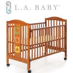 ( 美國 L.A. Baby)維吉尼亞嬰兒中床/原木床/童床(咖啡色)