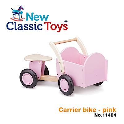 荷蘭New Classic Toys 經典木製置物滑步車 - 甜心粉 - 11404