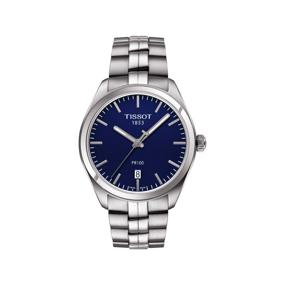 TISSOT PR100 經典美學時尚腕錶(T1014101104100)-藍/39mm