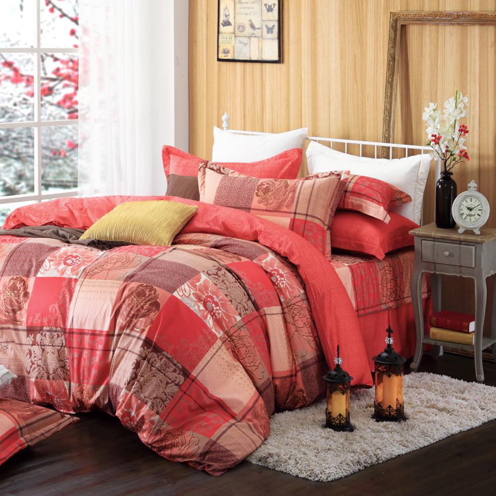 MONTAGUT-都城風韻-200織紗精梳棉-鋪棉床罩七件組(加大)