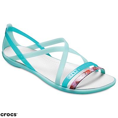 Crocs 卡駱馳 (女鞋) 伊莎貝拉花卉細束帶涼鞋 205150-35I