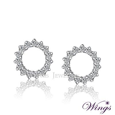 Wings 繁星 晶燦亮眼卻優雅 進口方晶鋯石美鑽耳環