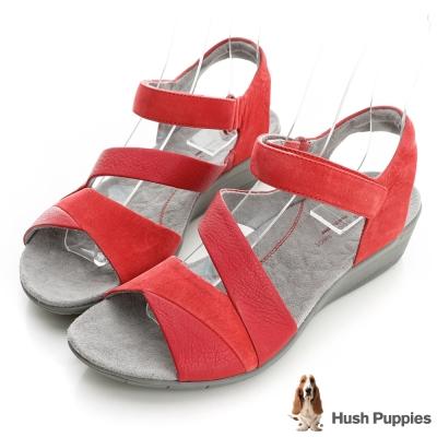 Hush Puppies NIX 輕量好走涼鞋-紅色