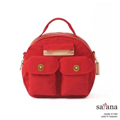 satana - Mini輕旅行後背包/保齡球包 - 中國紅