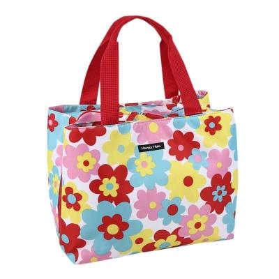 日本Hanna Hula-M型媽媽包-防潑水內襯(花樣紅)