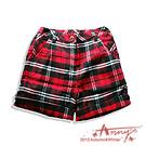 經典蘇格蘭格紋短褲*紅