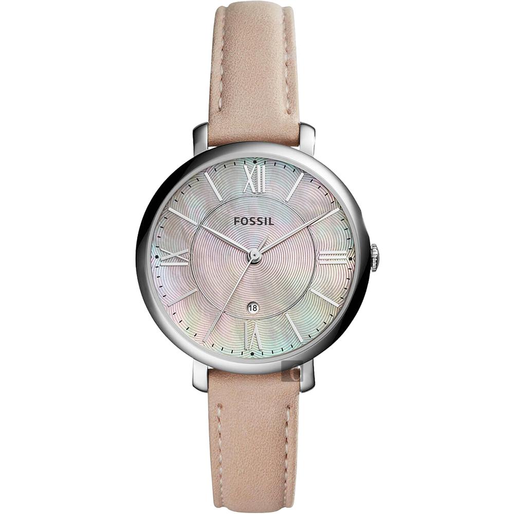 FOSSIL Jacqueline 羅馬時尚女錶(ES4151)-珍珠貝x粉色/36mm