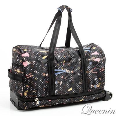 DF Queenin日韓 - 輕盈可加大容量拉桿式大旅行包-共5色