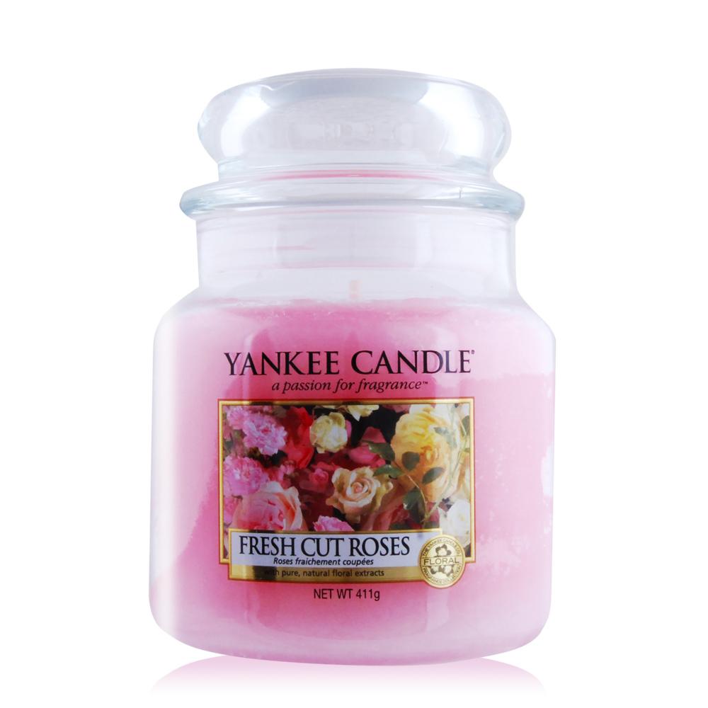 YANKEE CANDLE香氛蠟燭-玫瑰 Fresh Cut Roses 411g