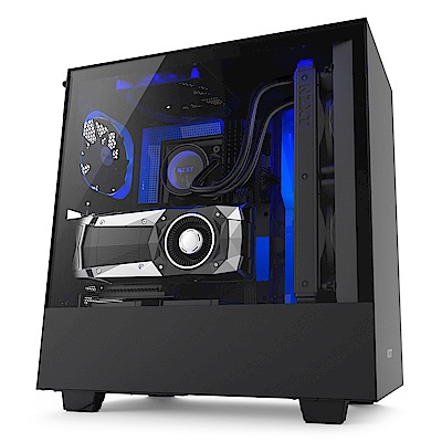【NZXT】H500i 電腦機殼 黑藍色