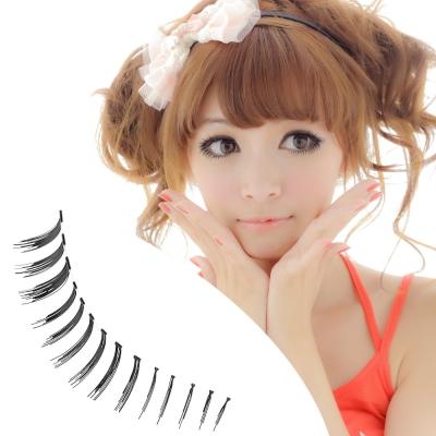 【Beauty美姬風彩 假睫毛】日系透明梗 俏麗娃娃 上下睫毛★大眼02★附膠
