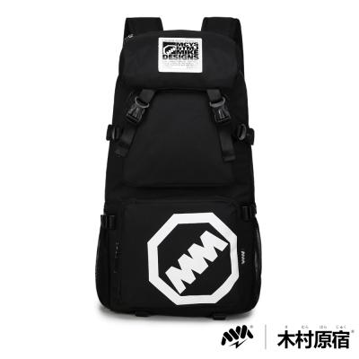 木村原宿MM-CAP袋-日式潮男排扣筆電登山包-調