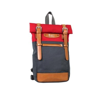 estilo - 時尚玩色系列 撞色設計 單/雙肩兩用包 - 亮紅