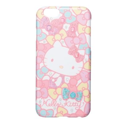 日本Suncrest HelloKitty iphone 6 6s閃鑽手機殼-粉嫩蝴蝶結