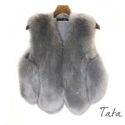 時尚人造毛背心-TATA